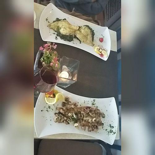 The best dinner last weekend! SEAFOOD🐡 Seafoodporn Dinner Dorsch Scholle Food Foodporn Food Porn Foodphotography Restaurantlagune Lagune Scharbeutz Fischrestaurant