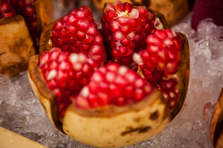 Exotic Exotic Fruit Red Thailand Fruit Granaatappel Pomegranate Red Color