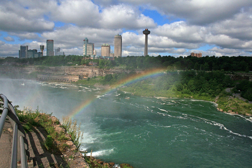 RainbowBridge Niagara Falls NY Rainbow Colors Architecture Beauty In Nature Building Exterior Built Structure Cloud - Sky Day Motion Nature No People Outdoors Rainbow Scenics Sky Water