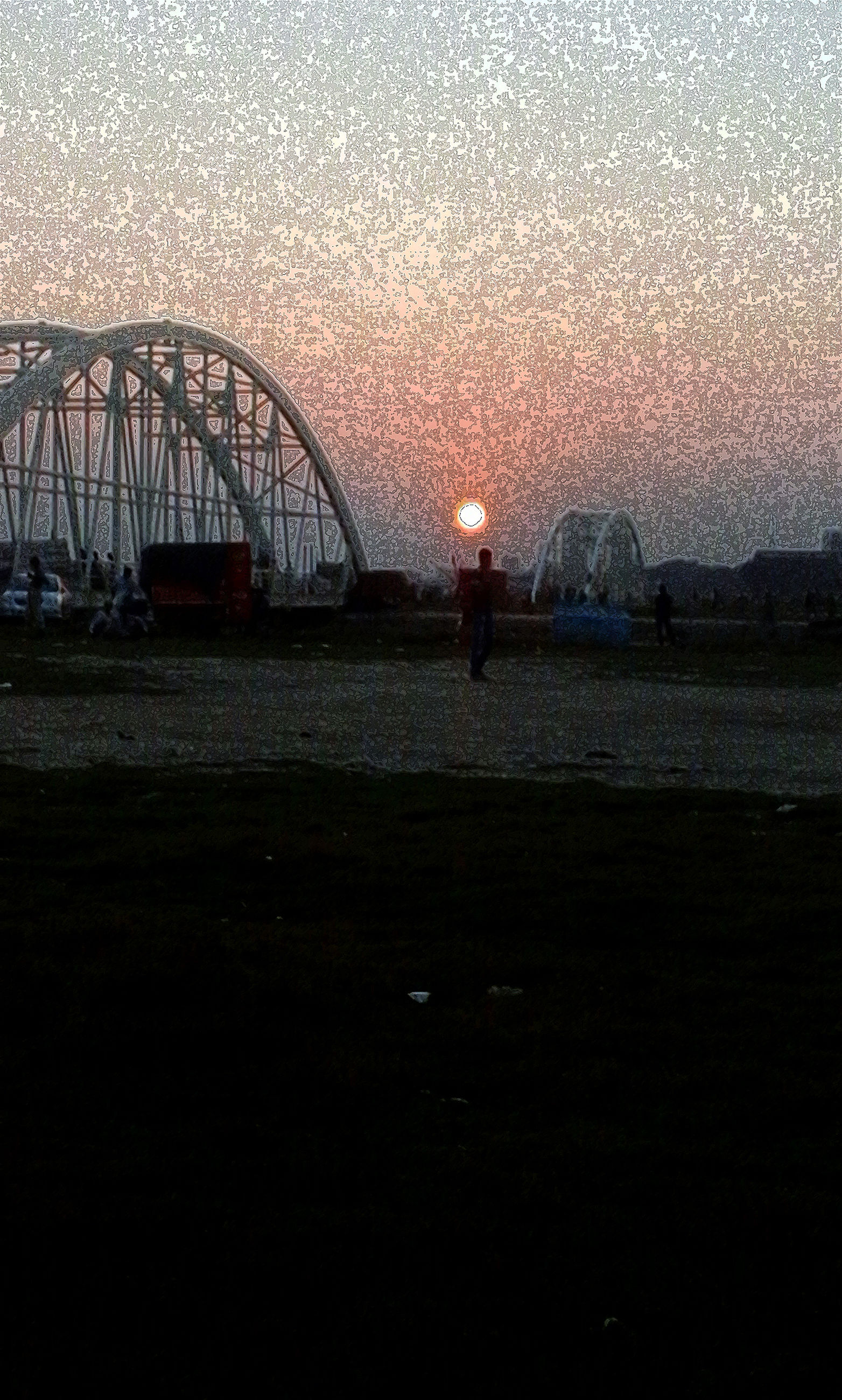 sunset, sky, bridge - man made structure, no people, outdoors, nature, scenics, beauty in nature, sun, day