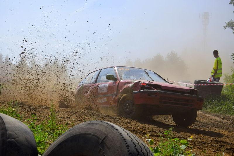 #cars #dust #Poland #race #summer #survival #wrak #łask