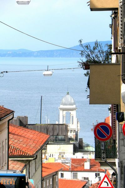 up a very central street..... Here Belongs To Me Trieste Italia No Filters  Old Pic  Italy From My Point Of View Point And Shoot Walk Roofs Waters Balcony Gulf Showcase April Hidden Gems