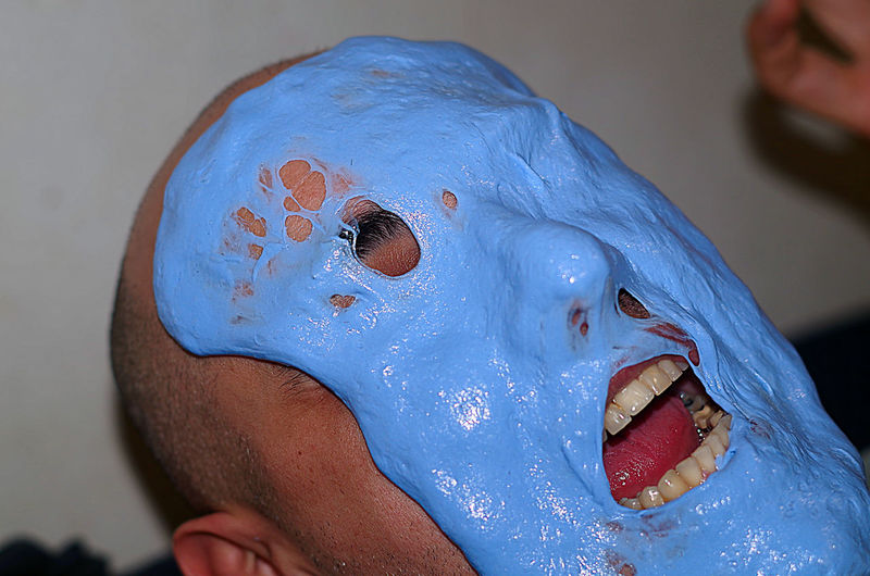 blue melting ugly face Horror Melting Ugly Azure Azzurro Blue Blue Sky Celeste Faccia Face Mask One Person Scary Scary Face Terrified Terrifing Ugly Face