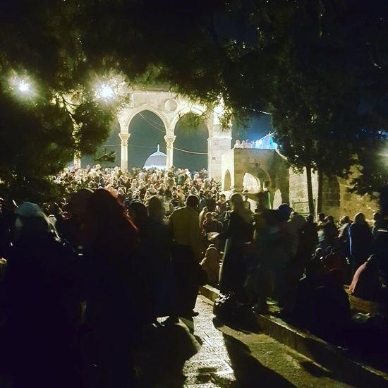ALAQSA Jerusalem The Capital Of Palestine Crowd Illuminated Tree Arts Culture And Entertainment City Nightlife