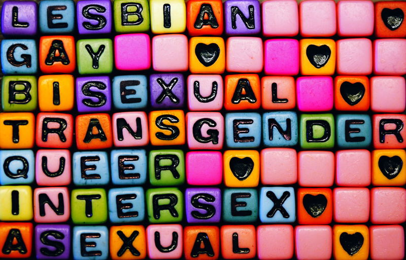 LGBT Mosaic Abundance Arrangement Backgrounds Beads Collection Colorful Equality Full Frame Gay Heart In A Row Large Group Of Objects Lesbian Lgbt Love Multi Colored Order Rainbow Side By Side Variation Millennial Pink