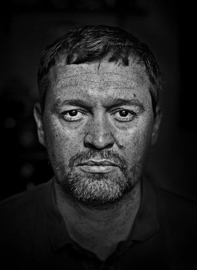 serious, stern, Portrait Black And White Black & White Monochrome Selectivefocus Headshot Looking At Camera Portraits Man