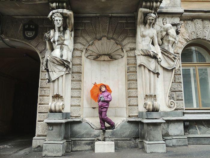 Daughter Sankt-peterburg Facade Building Happy Time Street Photography Bolshaia Morskaia Street 43
