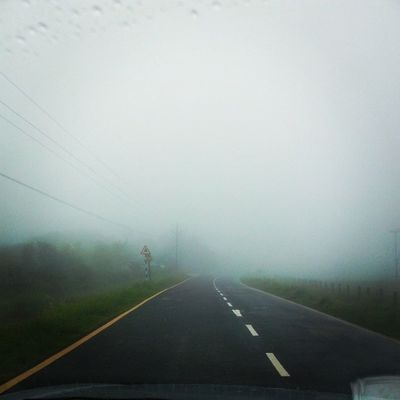 Driving into the clouds..:D