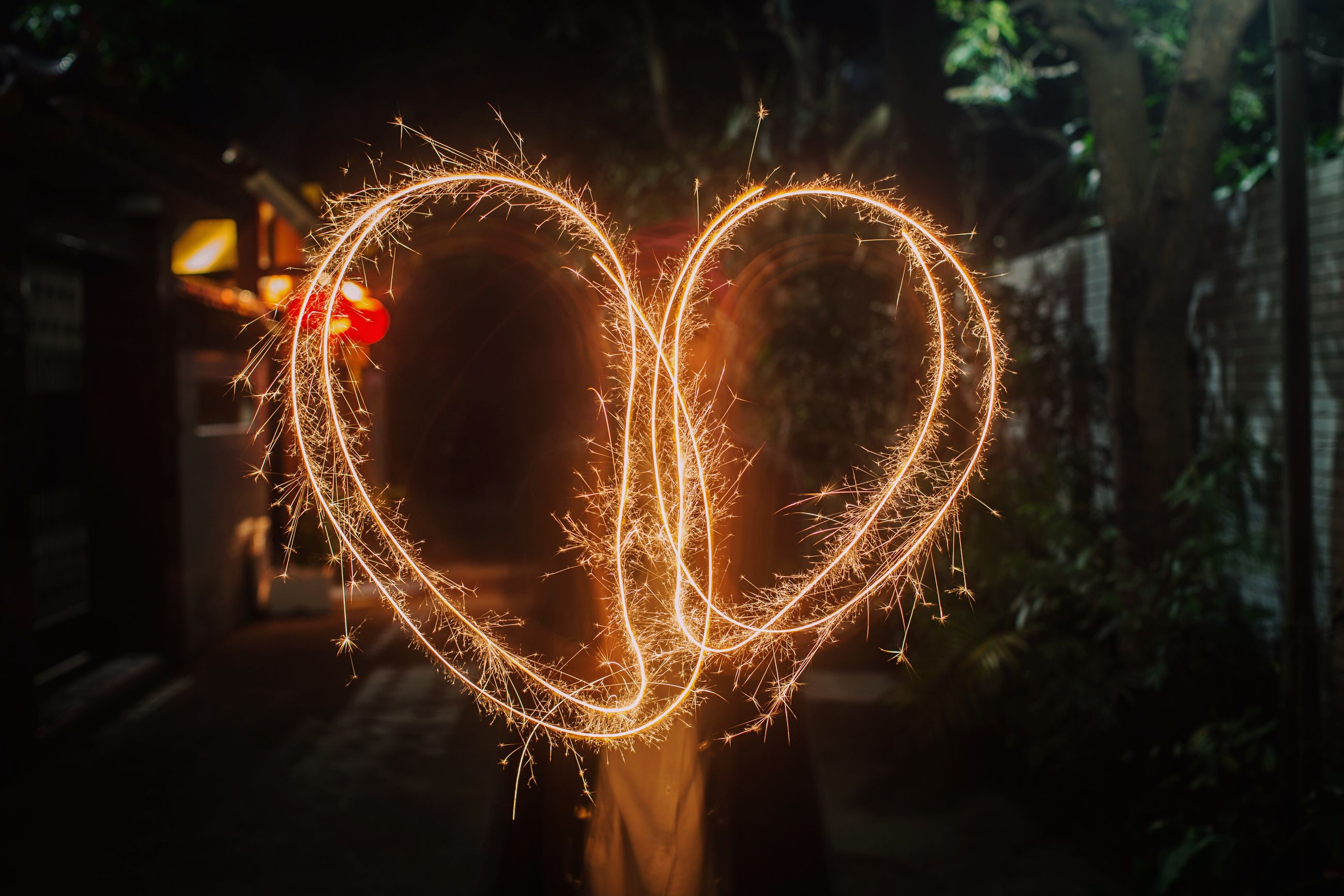 heart shape, night, love, illuminated, celebration, arts culture and entertainment, no people, close-up, holiday - event, outdoors