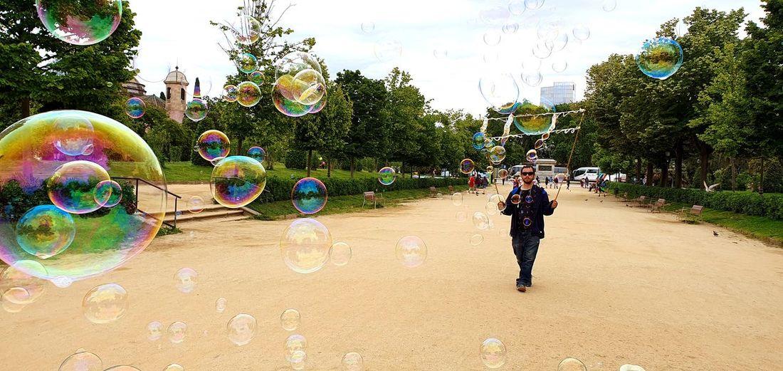 Bubble man.