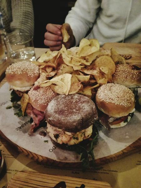 The humburgers Humburger Food And Drink Food Freshness Adults Only One Person Indoors  Huawei P8 Lite Huawei Shots Fresh On Eyeem  Food Photography Food On A Plate Food On The Table High Angle View People Brown Bread Toasted Bread Close-up Ready-to-eat Fresh On Eyeem