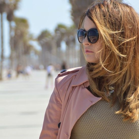 Sunglasses H&M Pink Trench Jersey Fashion Blog Valstyle