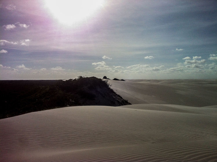 November 2014. Parque Lençóis Maranhenses. Most beautiful place. Dunes & lagoons. 700km long desert. A shame I only had my very old iPhone 4… But if you read me - you should go there and take proper pics! :) Arid Climate Atmosphere Atmospheric Mood Brazil Desert Deserts Around The World Dunes Hiking Horizon Lagoon Light Light And Shadow Majestic Mostbeautifulplace Non-urban Scene Outdoors Remote Sand Tranquil Scene Tranquility Travel Water