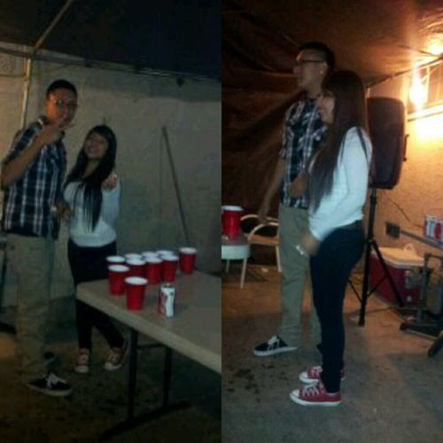 Beer Pong LastNight With Mali Nd Me :p