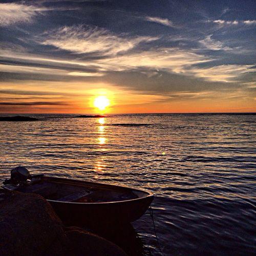 Hanging Out Enjoying Life Scandinavia Sunset