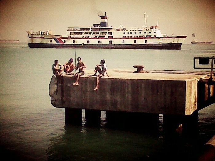 Pelabuhan merak Banten Merak Sea Port Fishing Time