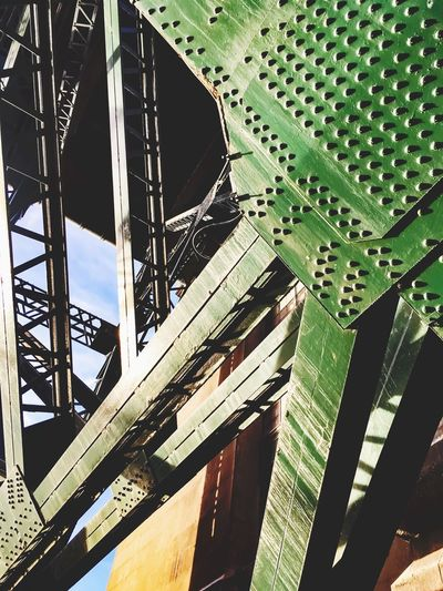 Breaking the monotones Tyneside And Northumberland Colour Color Green Stifanibrothers Built Structure Architecture Connection Low Angle View No People Bridge - Man Made Structure Day Outdoors Close-up City