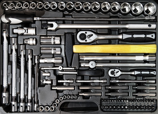 Toolbox close-up Box Construction Iron Objects Set Spanner Black Close-up Collection Engineering Full Frame Instrument Kit Metal Metallic No People Technology Tool Background Tool Box Tool Kit Toolbox Tooling Tools Variety