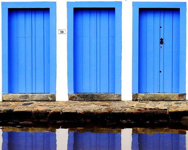 Water Blue Door
