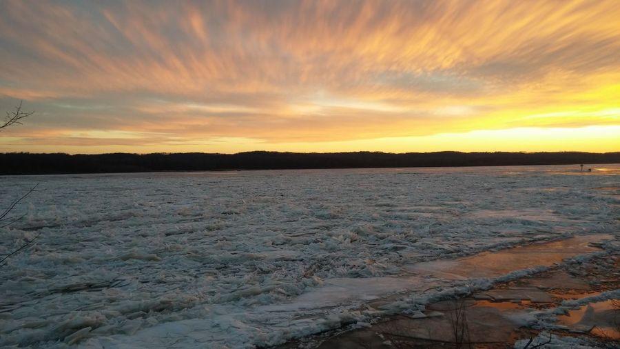 Sunset Sunset Over Ice