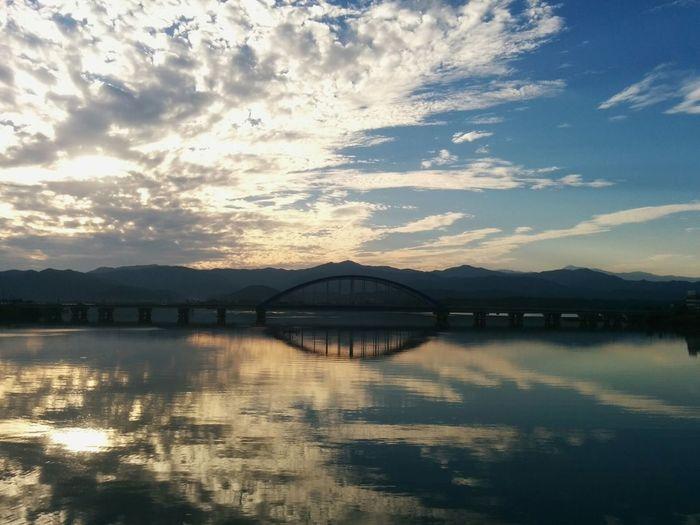 Bridge River Taking Photos Landscape 학교 옆 소양강