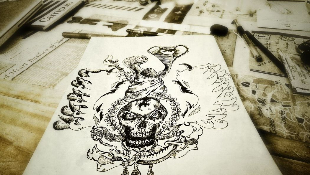 "Everyday drawing WIP ""The Pirate"" The Tree Academy Art, Drawing, Creativity Skull Sketch"