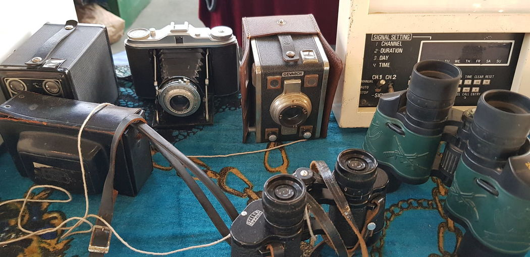 vintage stuffs Vintage Cameras For Sale Binoculars Various Display For Sale Shop Variety
