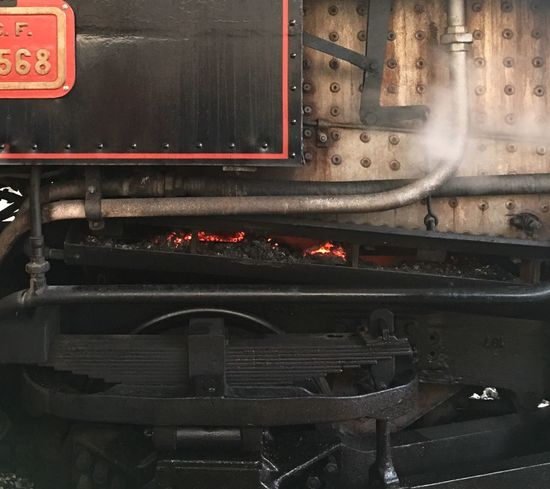 Detail Train - Vehicle Rail Transportation Railroad Track Transportation Public Transportation Steam Train Locomotive Mode Of Transport No People Land Vehicle Old-fashioned Close-up Day Fire Details Steam Locomotive Detail Of A Picture