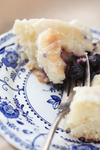 Baked Goods Blueberries Breakfast Food Closeup Delicious Food Fork Fruit Ingredient Home Cooking Homemade Food Indoors  Pastry Pretty Dish Snack Sweet Roll Tasty Textures