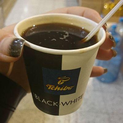 Cute Coffee Blackandwhite Nails delicious prague