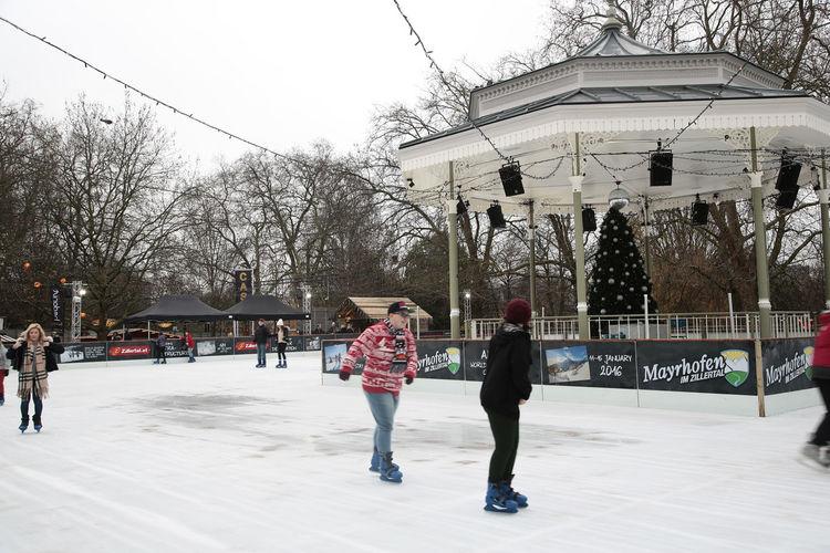 Christmas Ice Lifestyles Park Skating Snow Winter Wonder Xmas