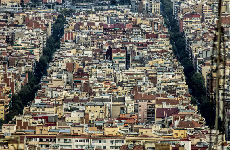 Aerial View Architecture City City Life Cityscape Residential District Skyline Barcelona Colors Urban Scene