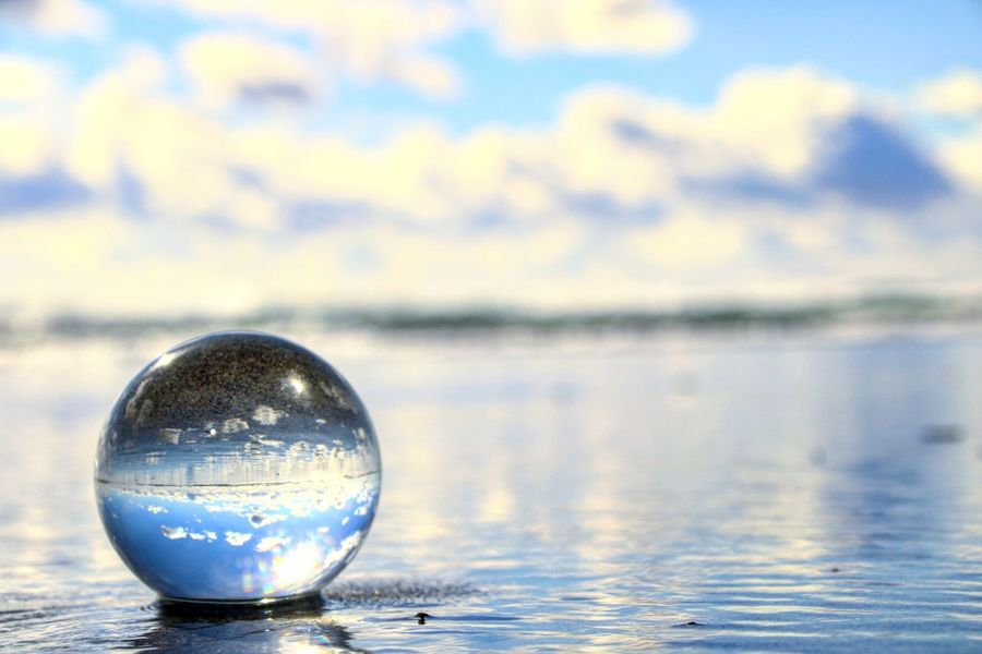 Reflection Fortune Telling Crystal Ball Single Object Close-up No People Water Day Outdoors Nature Sky EyeEm Selects