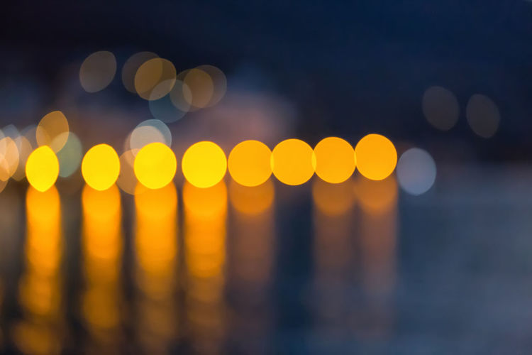 Blurry Dots Backgrounds Beauty In Nature Blur Blurred Blurred Background Blurred Motion Blurred Visions Blurry Circle Circles Close-up Defocused Detail Illuminated Nature Night No People Outdoors Sky Sunset Water Yellow