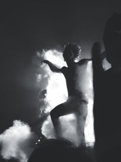 Concert Photography Blackandwhite Silhouette EyeEm Selects Smoke - Physical Structure Micro Photography Rock Music Performance Entrance HUAWEI Photo Award: After Dark Human Hand Men Talcum Powder Black Background Skill  Performance Muscular Build Incense Entertainment Emitting Exploding Sparks Erupting Outline