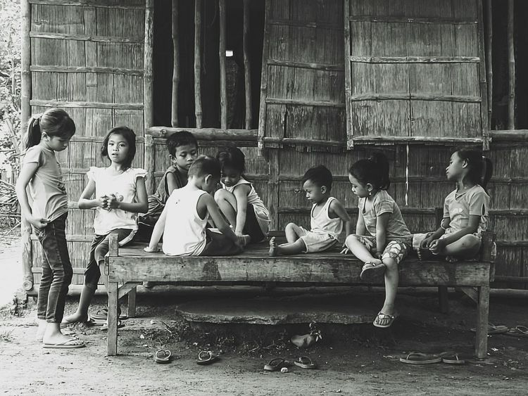 Kids playing without technologyEnjoy The New Normal Young Playing Play Kids Being Kids Small Blackandwhite