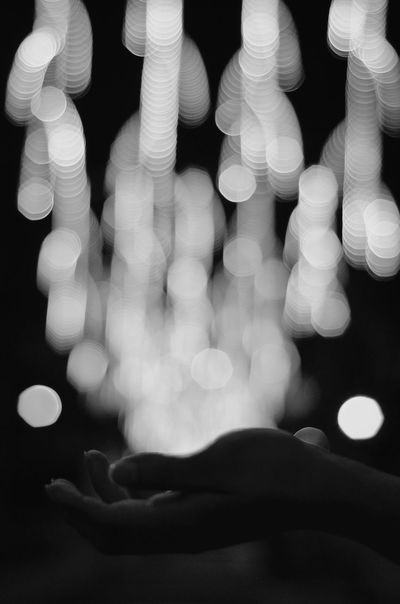 Catch a falling star and put it in your pocket, never let it fade away. Bokeh Light Night Lights Blackandwhite Monochrome Eyeem Philippines