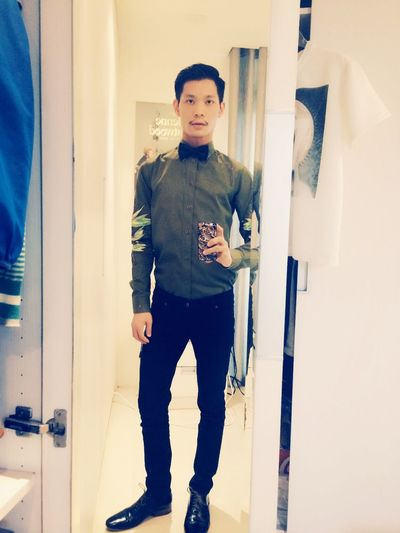 Ready to the Party . Shirt by Givenchy , Skinny Jeans by Cheap Monday , shoes by Dior Homme .