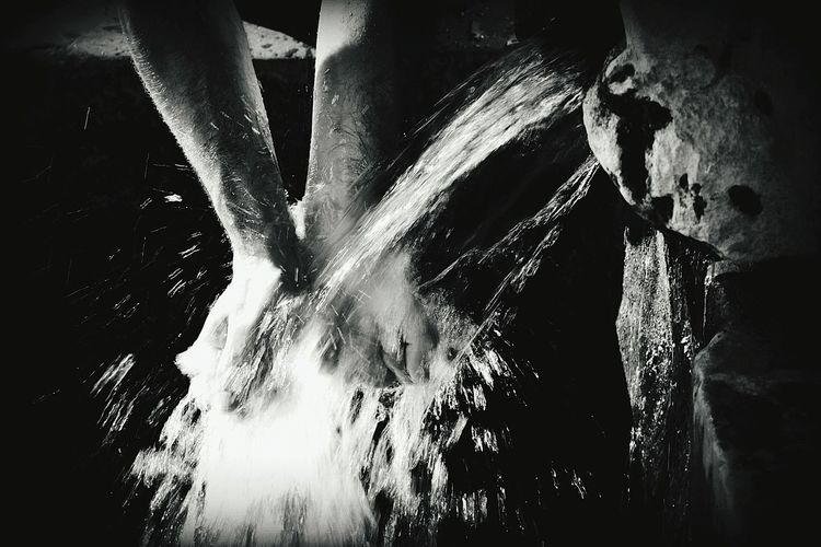 People And Places Close-up Outdoors Blackandwhite Black And White Photography Majestic Splashing Scenics Beauty In Nature WaterWaterdrops Water Fountain Hands Handsfree Monochrome Photography