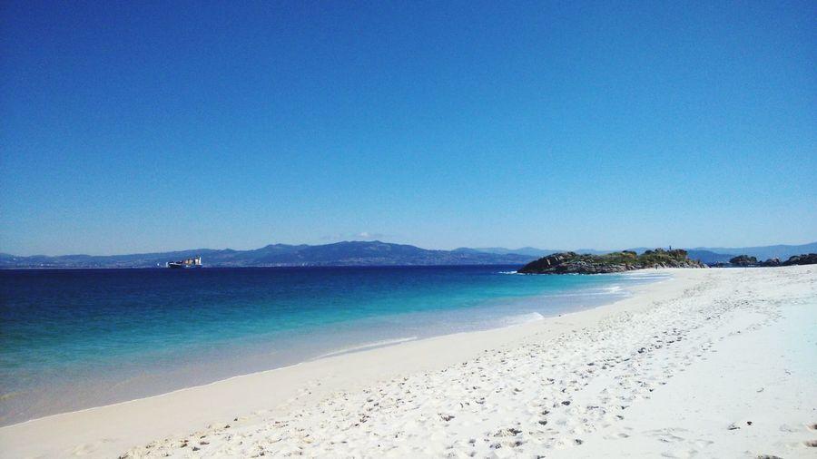 Beach Islands Nature Living Bold Pontevedra Galicia Ocean Waves