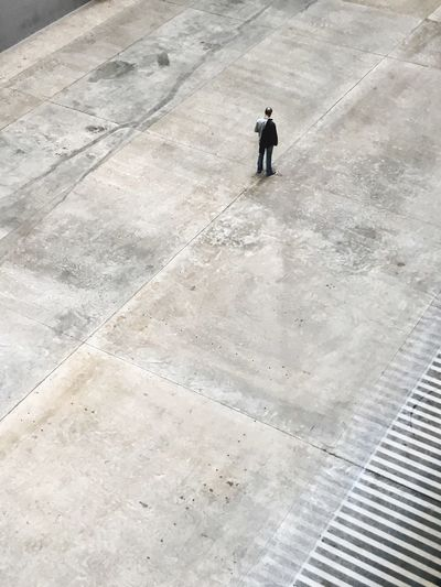 High Angle View One Man Only One Person Full Length Only Men Standing Adults Only Adult Men Day People Businessman Outdoors Lost In Tate Modern TateModern London EyeEm LOST IN London