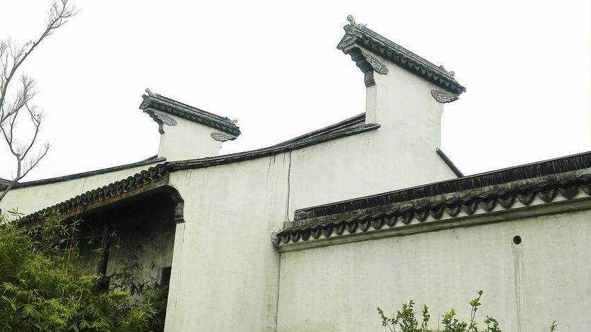 Chinese Traditional Building Cultural Heritage At Wuxi China Old Town