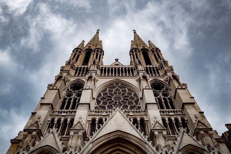Église Saint-Vincent-de-Paul Architecture Cloud - Sky Sky Place Of Worship History France Marseille, France
