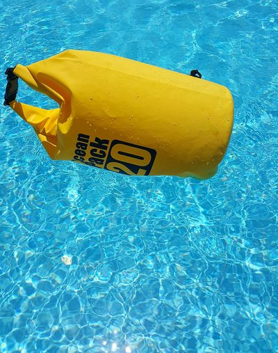 EyeEm Selects Yellow Swimming Pool Underwater Oceanpack Waterproof Water Bags Camera Camera - Photographic Equipment Drybag Staydry Super Dry Water Swimming Outdoors Sea No Filter, No Photoshop No Fılter