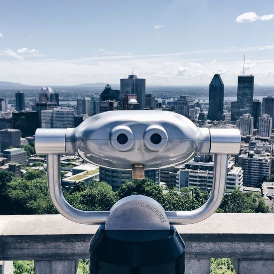 Mont Royal Montréal Canada Coin Binocular From My Point Of View Enjoying The View Cityscapes