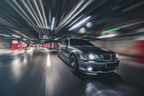3series Architecture Blurred Motion Bmw Built Structure Car E4 Illuminated Indoors  Land Vehicle Long Exposure Mode Of Transport Motion Night No People Parking Garage Road Speed Transportation