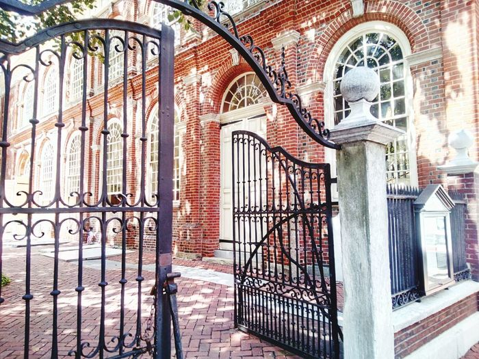 Metal Gate Architecture Built Structure Building Exterior Day Outdoors Entrance History Wrought Iron No People