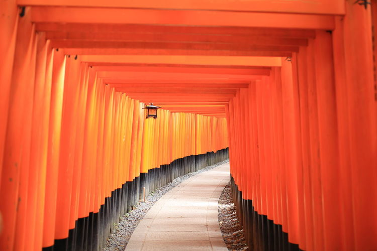 Empty Fushimi Inari Shrine