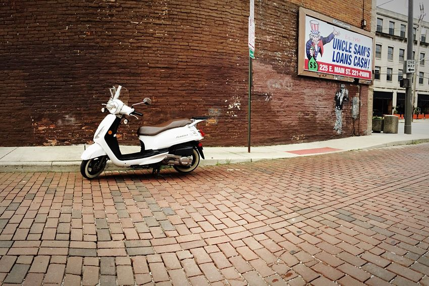 Vespa Brick Brickporn Fourth Of July 4th Of July Red IPhoneography Streetphotography Street Photography Streetart