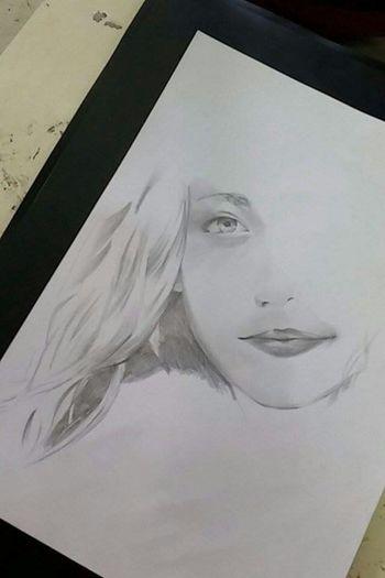 Art Drawing ✏ My Draw ♥ Pencil Drawing My Drawing Draw Drawing Art, Drawing, Creativity Portrait